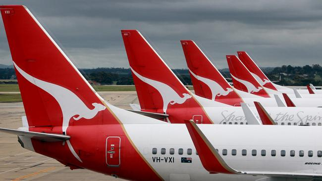 Looking up ... Qantas Alan Joyce says customer satisfaction was at record levels across the business.