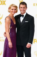Claire Danes and Hugh Dancy attend the 67th Annual Primetime Emmy Awards in Los Angeles. Picture: Getty