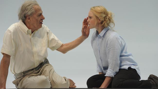 Geoffrey Rush and Eryn Jean Norvill in Sydney Theatre Company's King Lear. Picture: Heidrun Lohr