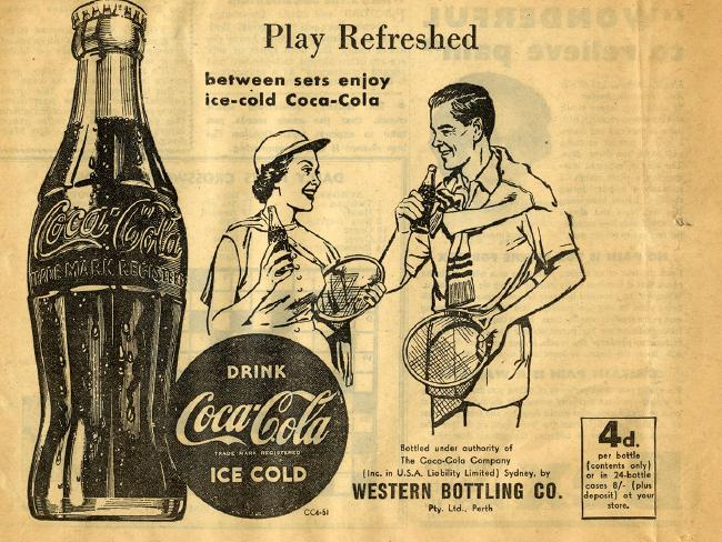A Coca Cola advertisement from 1951. Gotta replenish those lost electrolytes.