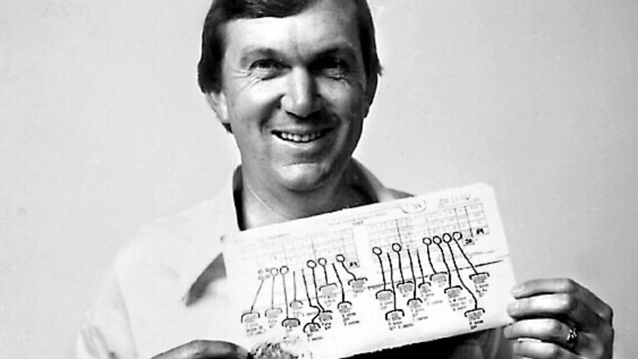 Al Geiberger avec le tableau de bord qui a fait de lui «M. 59 '.