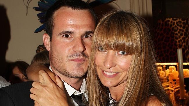 Collette Dinnigan with husband Bradley Cocks.