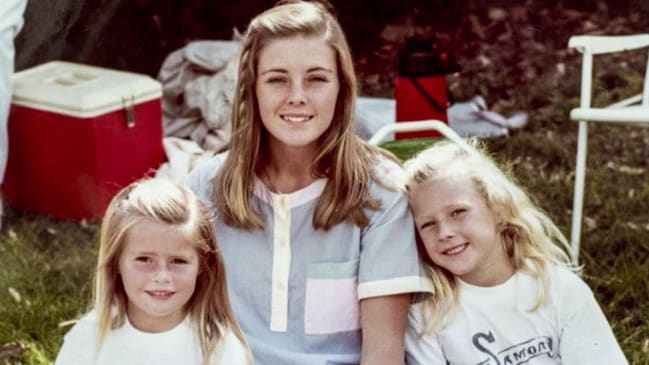 Joanne Curtis pictured with Chris and Lyn's two daughters, Shanelle and Sherrin.Source:Channel 9