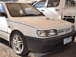 Police have released an image of Terrence's white Nissan Pulsar. Picture: Supplied