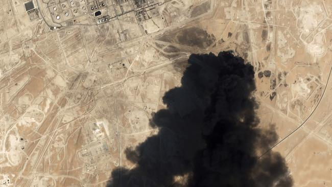 The strikes against Saudi oil facilities knocked out about half of the kingdom's production and the effects could reverberate in the global market for weeks or even months. Picture: AP