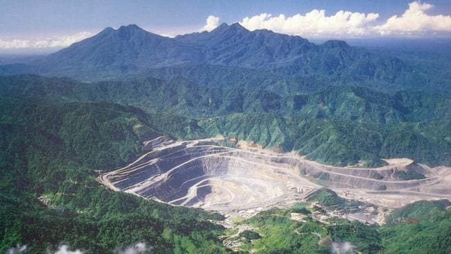 The huge, and now closed, Panguna mine on Bougainville was as source of much wealth and bloodshed.