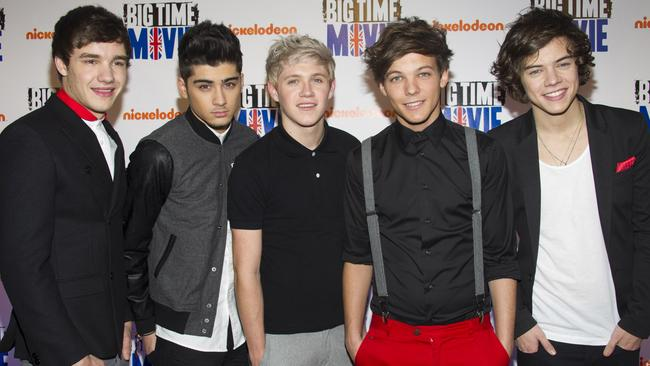 Liam Payne, Zayn Malik, Niall Horan, Louis Tomlinson and Harry Styles in 2012. Picture: AP Photo/Charles Sykes