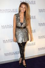 Ricki-Lee Coulter at the grand opening of nightclub Marquee at The Star casino in Pyrmont, Sydney. Picture: Richard Dobson