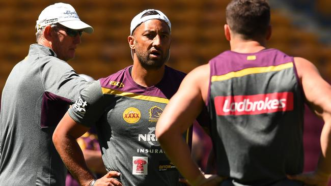 Benji Marshall during a Brisbane Broncos training session.