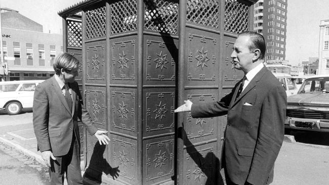 Melbourne public toilet in 1973. Picture: supplied