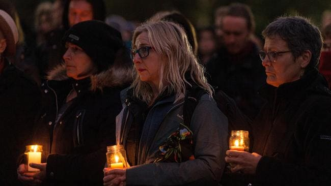 Mourners at Royal Park. Picture: AAP