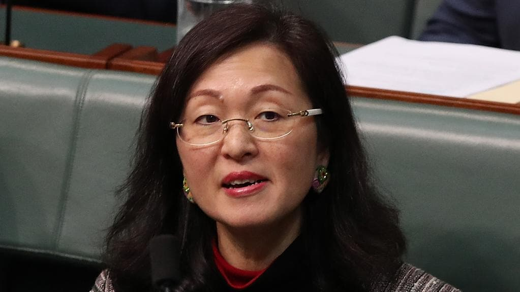Gladys Liu during Question Time in the House of Representatives in Canberra.