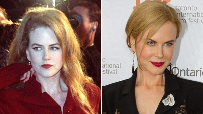 Nicole Kidman in 1992 compared with 2013.