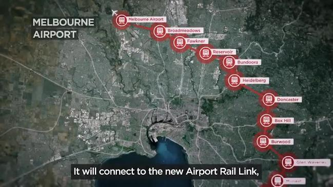 Proposed suburban Rail Loop for Melbourne