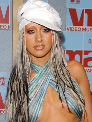 Aguilera in 2002 at the MTV Video Music Awards. Picture: Mark Mainz/Getty Images