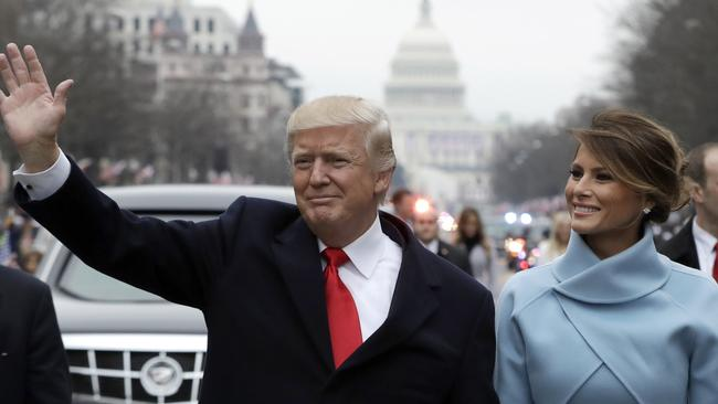 Dr Lillian Glass, who has been studying body language for three decades, said the Trumps 'couldn't be a better match'. Picture: AP Photo/Evan Vucci.