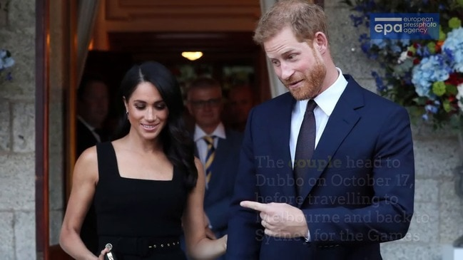 EXPLAINER: Harry, Meghan's Down Under tour dates released