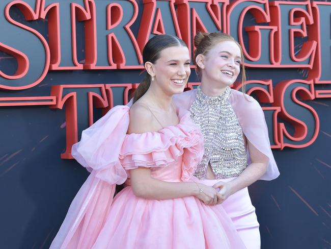 Millie Bobby Brown and Sadie Sink. Picture: Getty Images
