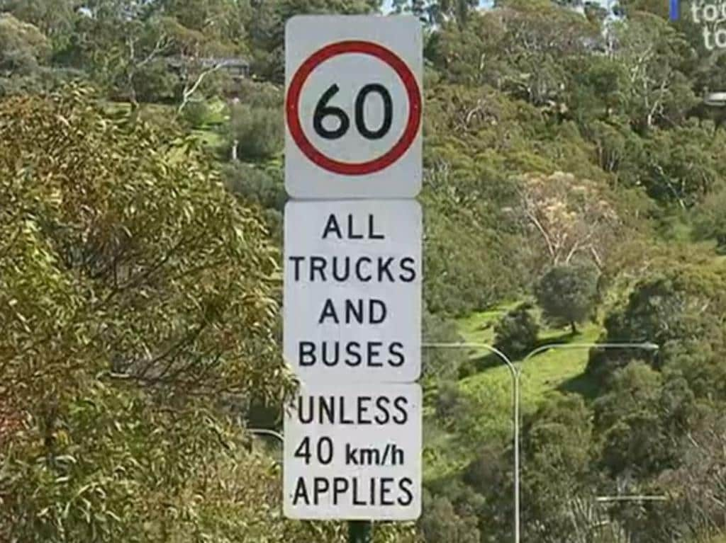 Trucks and buses are requires to stick to a speed limit of 60km/h. Picture: Today Tonight/Channel 7