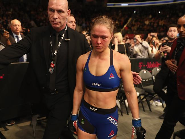 Rousey refused to address the elephant in the room.