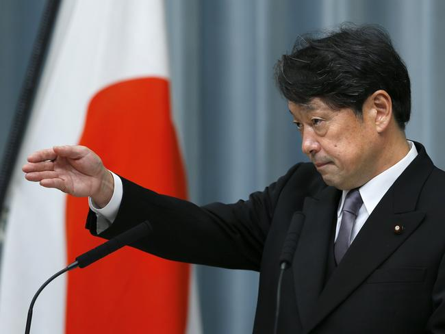 Japan's Defence Minister Itsunori Onodera says North Korea's nuclear and ballistic missile capabilities have grown to what he called an 'unprecedented, critical and imminent' level. Picture: AP Photo/Shizuo Kambayashi
