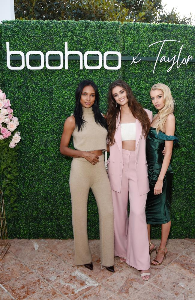 Jasmine Tookes, Taylor Hill and Stella Maxwell. Picture: Getty Images for boohoo