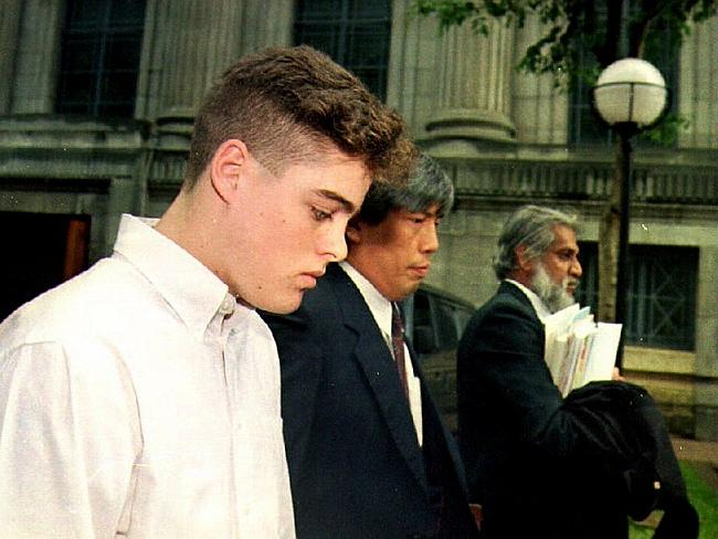 US student Michael Fay was sentenced in Singapore to caning for two counts of vandalism.