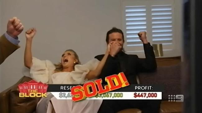 Josh and Elyse smash their reserve price with an auction of three million and 67 thousand dollars