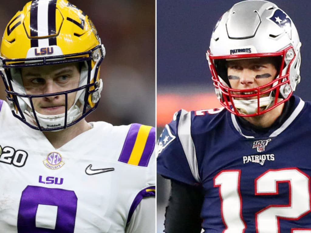 Joe Burrows and Tom Brady will take centre stage at the combine.