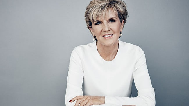 Julie Bishop says her 'intention is to run', which we can't help but notice is not quite saying 'I will definitely run'. Photo: Hugh Stewart