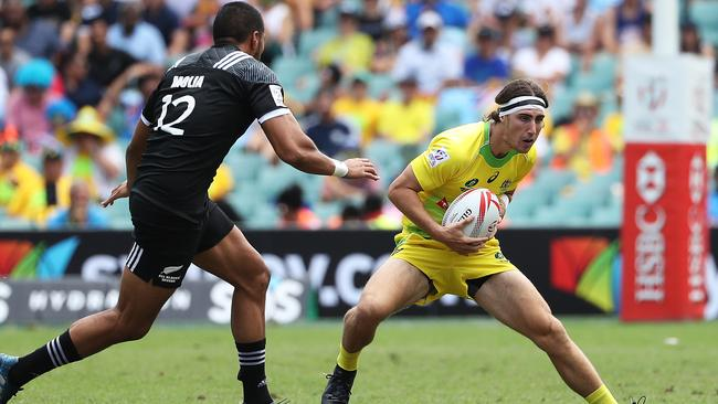 Australia's Liam McNamara during the World Series at Allianz Stadium, Sydney.