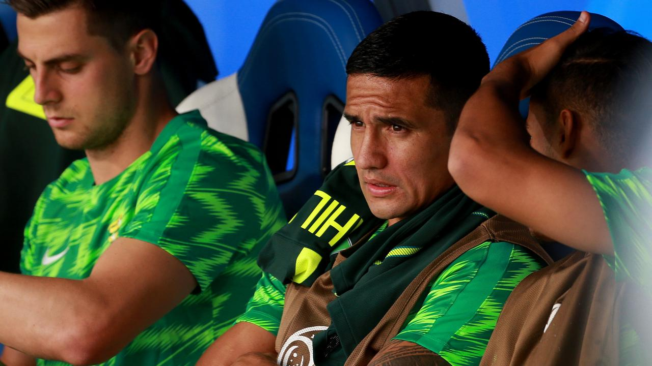 Tim Cahill was left on the bench against Denmark.