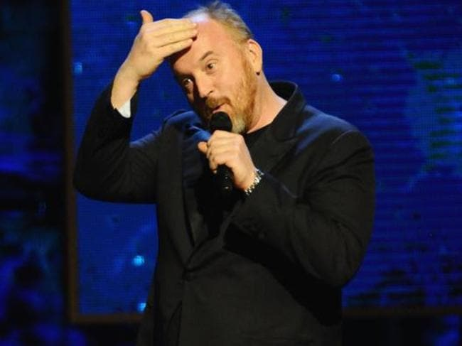 Louis C.K. performs on stage at Comedy Central's Night of Too Many Stars.