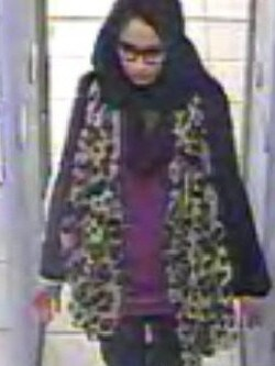 CCTV footage of Shamima Begum at Gatwick Airport as she fled to become a child bridge in Syria at 15.