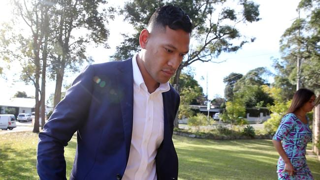 Wallabies coach Michael Cheika has spoken about the Israel Folau saga's nasty aftermath. Picture: Jane Dempster