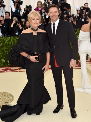 Deborra-Lee Furness and Hugh Jackman keep it classy on the red carpet. Picture: Getty