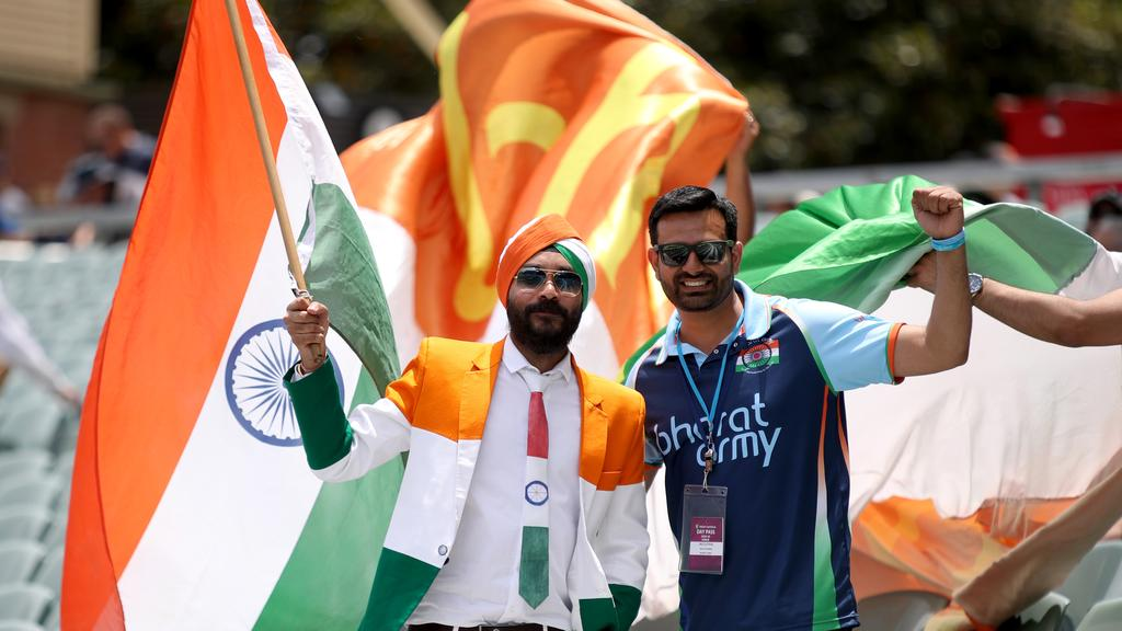 Day one of the first Test match between Australia and India at Adelaide Oval in 2018. Picture: AAP Image/Kelly Barnes