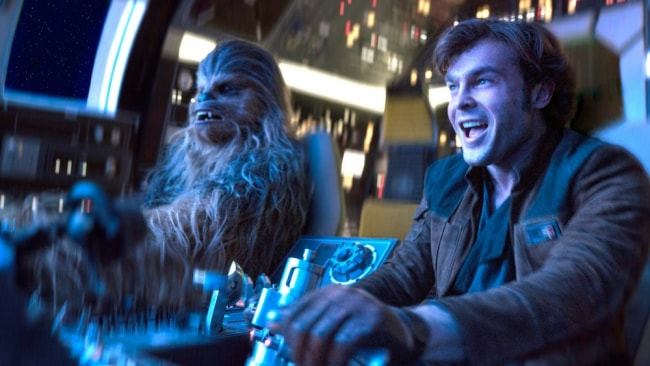Han and Chewie in the Millenium Falcon. Photo: Lucasfilm