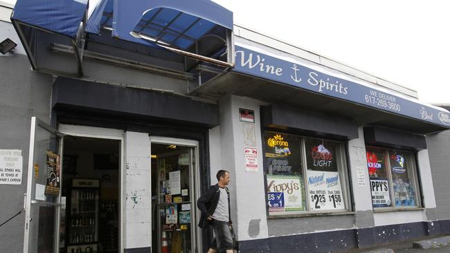 This liquor store, formerly called South Boston Liquor Mart, where the winning ticket was sold in 1991. Picture: AP Photo/Steven Senne, File