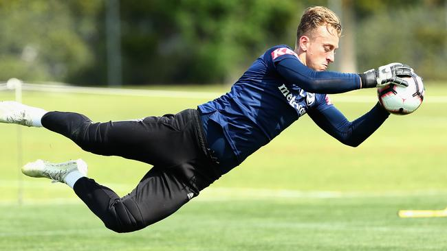 Victory goalkeeper Lawrence Thomas says he has learned to be relaxed before big games. Picture: Getty Images