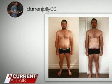 Darren Jolly's weight-loss was dramatic. Picture: A Current Affair