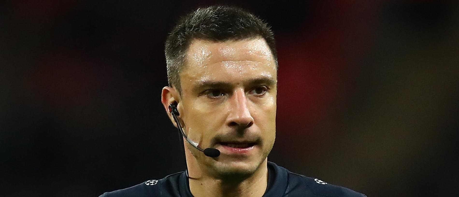 LONDON, ENGLAND - DECEMBER 06:  Referee, Slavko Vincic is seen during the UEFA Champions League group H match between Tottenham Hotspur and APOEL Nikosia at Wembley Stadium on December 6, 2017 in London, United Kingdom.  (Photo by Julian Finney/Getty Images)