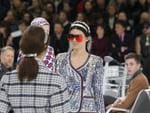 Kendall Jenner wears a creation as part of Chanel's Spring/Summer 2016 women's ready-to-wear show during Paris Fashion Week. Picture: AP