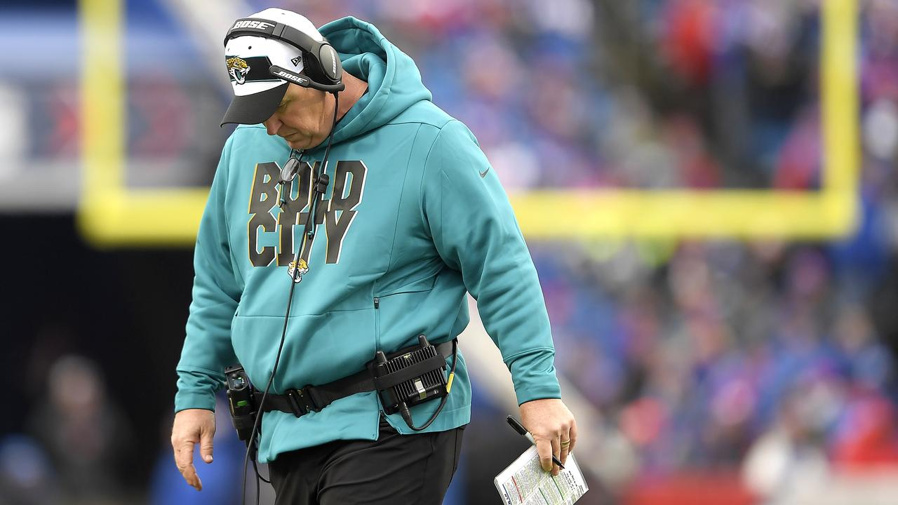 Jacksonville Jaguars head coach Doug Marrone reacts during a recent loss. (AP Photo/Adrian Kraus)