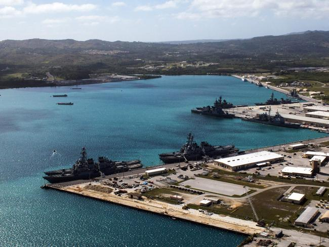 The US Naval Base at Guam's Apra Harbor. Picture: US Dept Defence