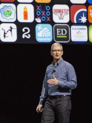 Tim Cook at Apple's headquarters. Picture: Getty Images