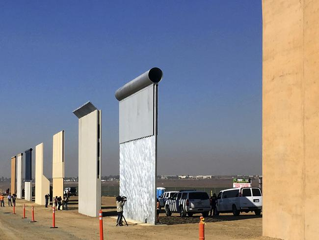 Prototypes of border walls in San Diego. Picture: AP