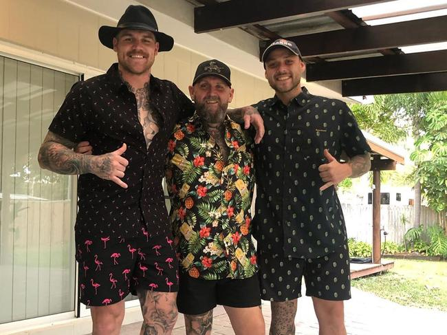 Josh Dugan with friends on his holiday in north Queensland.