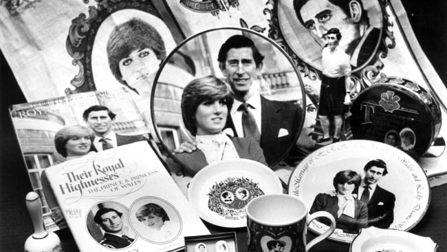 Royal wedding souvenirs available at Myer back in 1981. Photo: Supplied