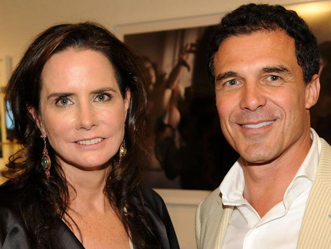 Katie Ford and then-husband Andre Balazs in 2008. Picture: Getty